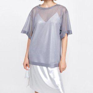 Zara | Metallic Sheer Tunic